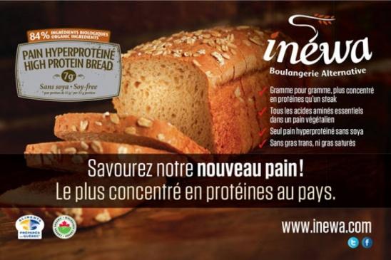 Pain protéines sans soya